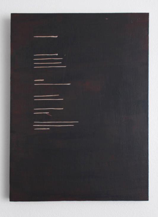 Emma Quaytman, AM Reader 3 , 2013; Acrylic on board; 11 x 8 inches