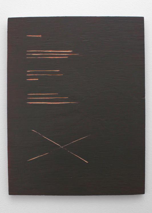 Emma Quaytman, AM Reader 4 , 2013; Acrylic on board; 11 x 8 inches