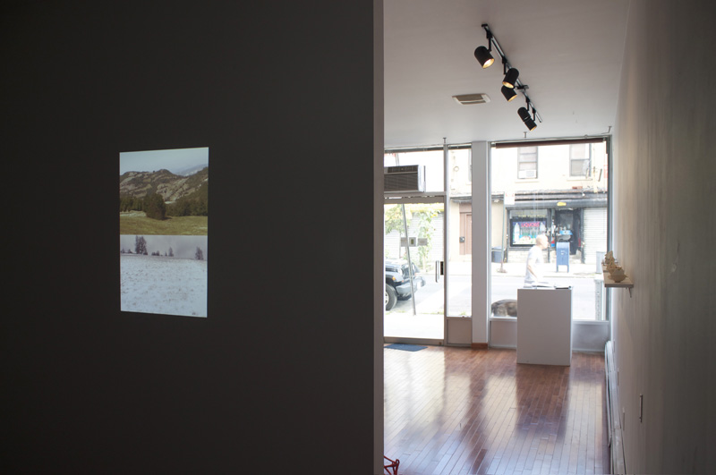 Installation view: Ariel Yelen,  Mountain Drawing  , 2012; Video; 1:44 minute loop