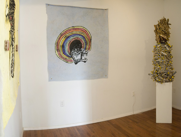 Installation view: Mark Cannariato,  On east ease mines and my diamondsss , Peninsula Art Space, Brooklyn, New York, 2013