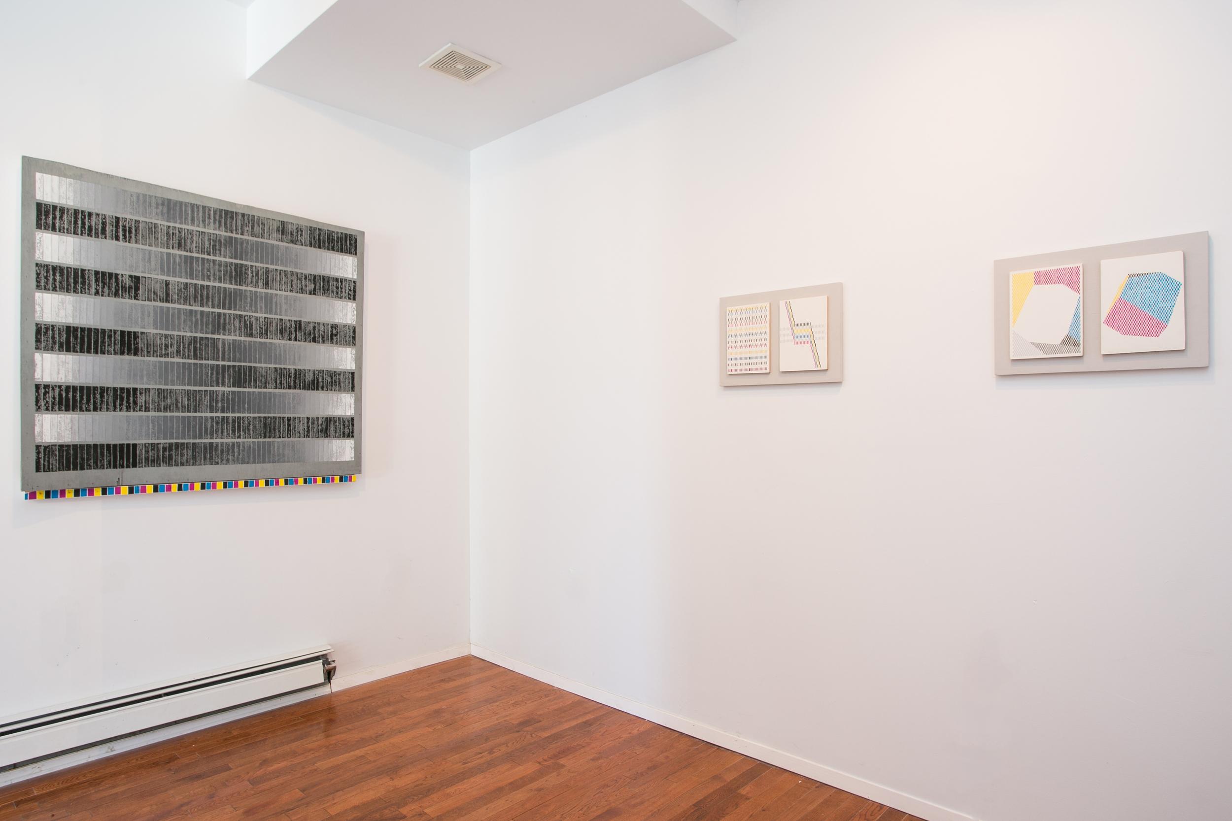 Installation view: Vanessa Hodgkinson, P R E I M A G E, Peninsula Art Space, Brooklyn, New York, 2014