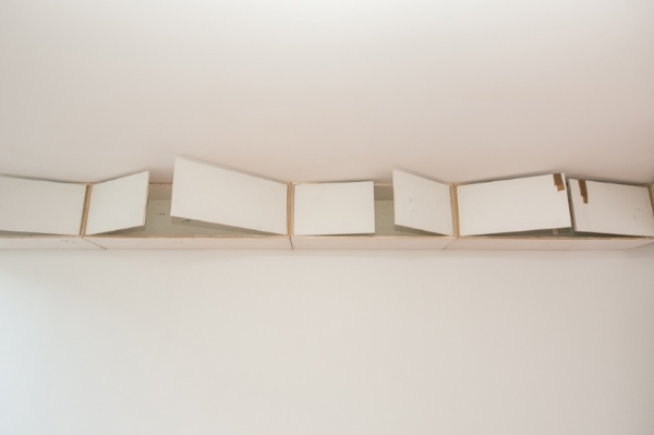 Samuel Payne  10 Empty Cabinets (A-J) (detail) 2014 Miscellaneous plywood Dimensions variable
