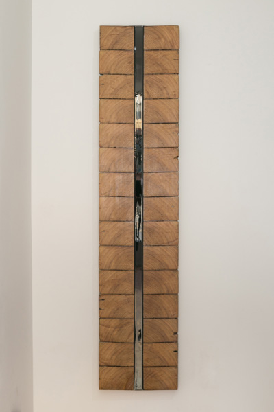 Guy Nelson  Bloodlines  2013 Resin, reclaimed wood 62 x 13.5 x 2 inches