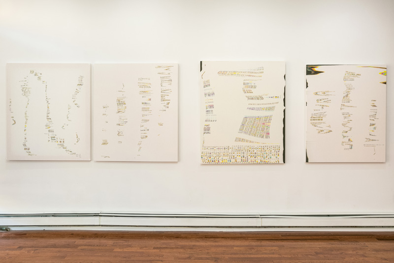 Installation view: Francesca Capone,   Oblique Archive,   Peninsula Art Space, Brooklyn, NY, 2014