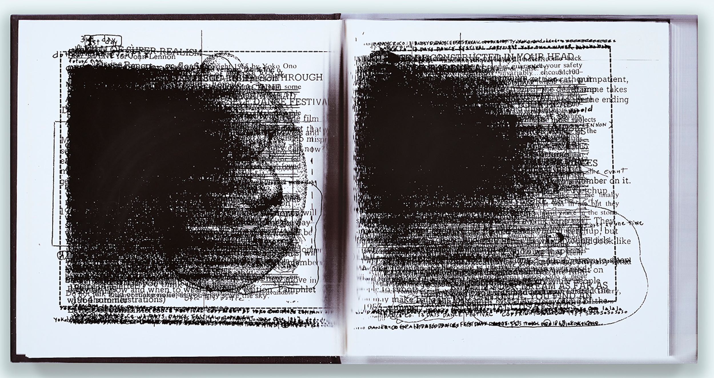 Facsimile Compression: Why Write?, Paul Auster    2014   28 x 39 inches   Archival pigment print on cotton paper, oak base   C009