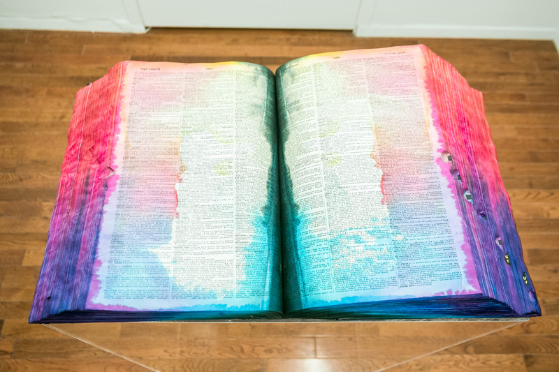 Webster's Unabridged Dictionary CMYK  2014 40 x 22 x 13 inches Dictionary, dye, Plexiglas plinth