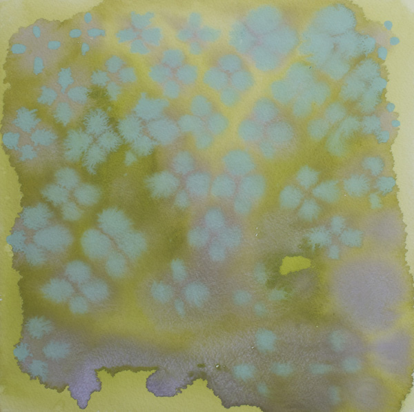Amy Bay  Dots 16  2014 Gouache on laminated panel 12 x 12 inches AB001