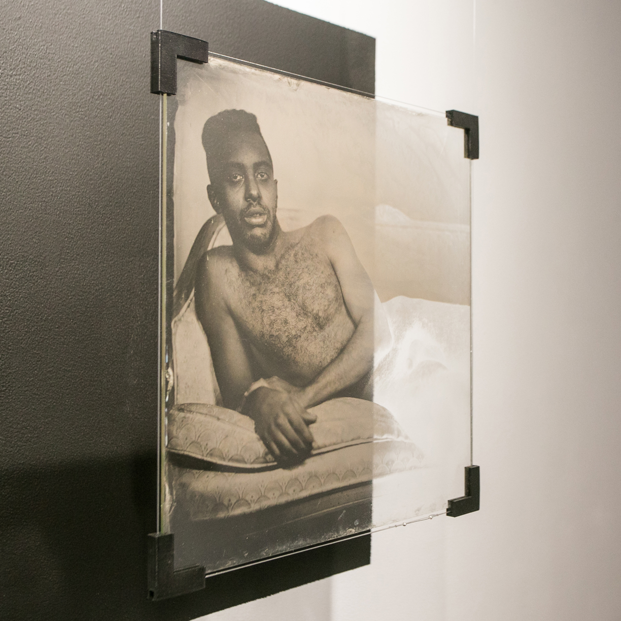 Robyn Hasty  Nathan  2014 Wet plate collodion ambrotype on glass plate 13 1/2 x 13 1/2 inches