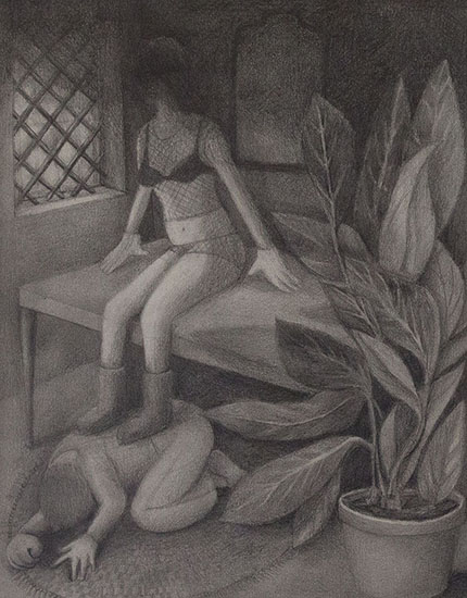 Vanessa Gully-Santiago,  Undertow , 2014 Graphite on paper, 14 x 11 inches