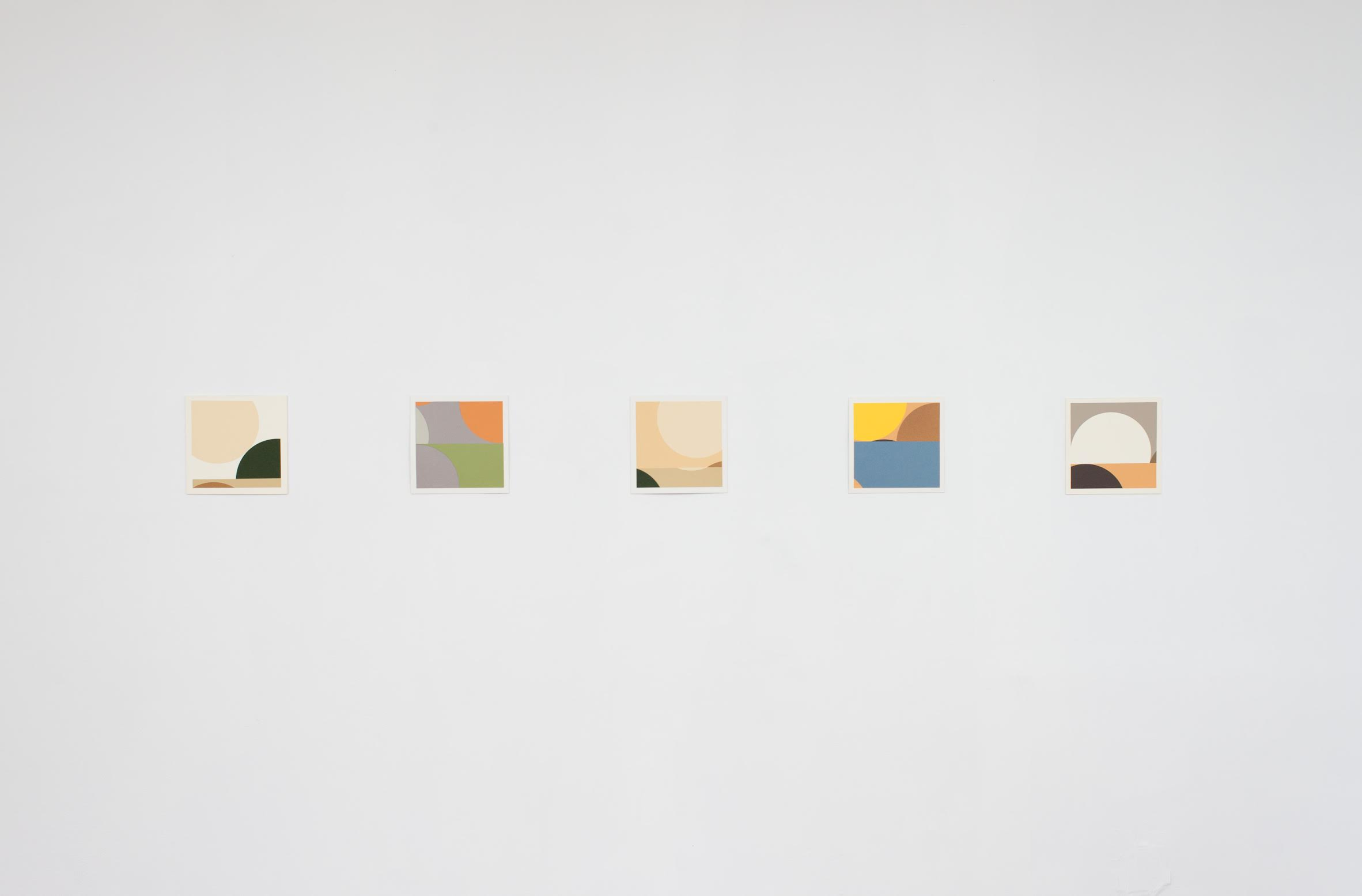 Felipe Cohen,  Untitled (landscape series),  2015. Collage with paper, 10 x 10 inches each.