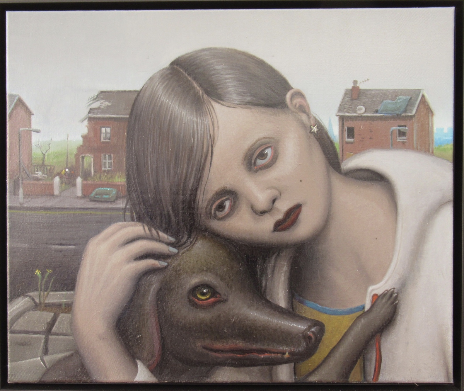 Michael Kirkham, Untitled (girl with dog), 2018