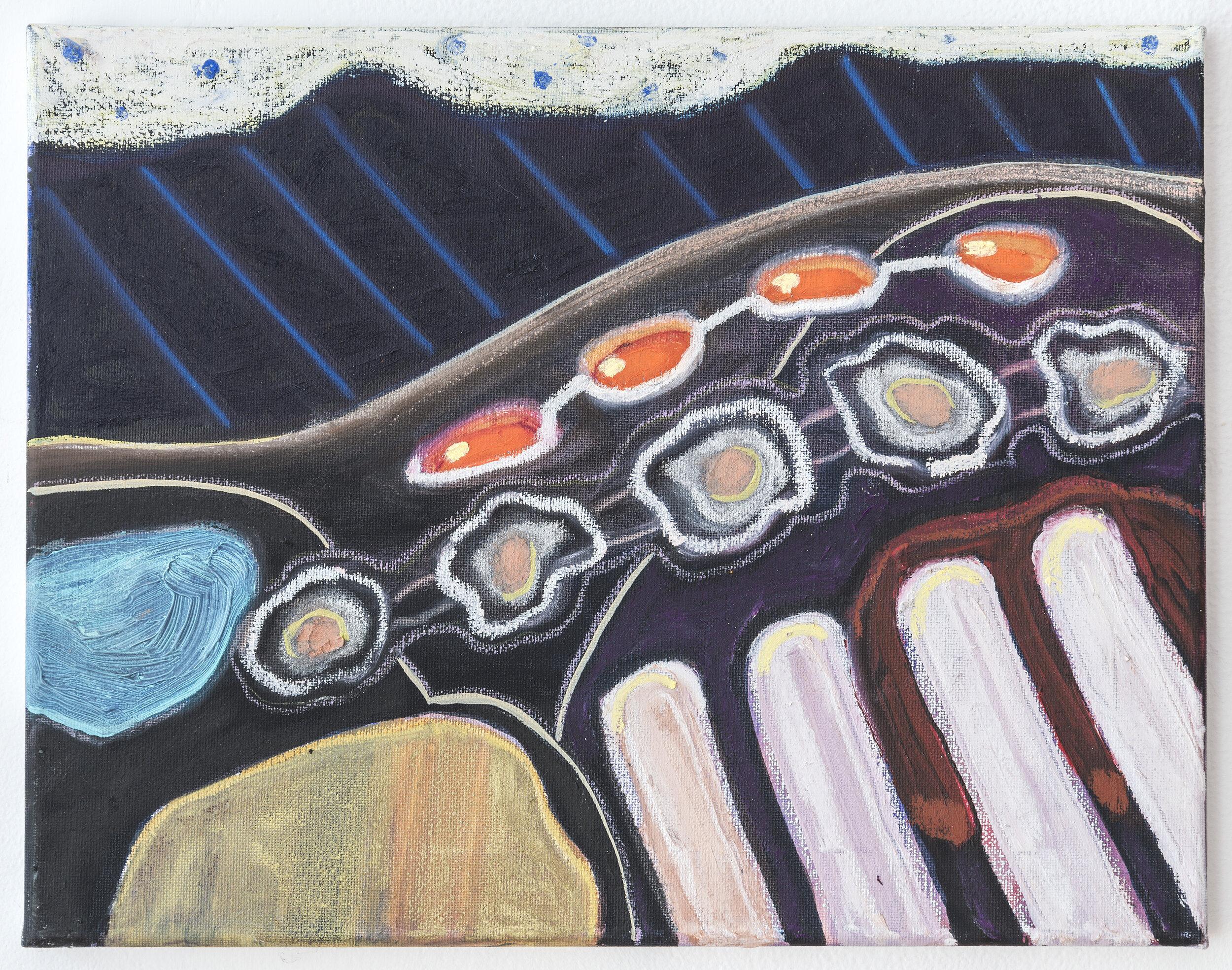 "Georgia Elrod_Sleeping_2018_Oil and pastel on canvas_11"" x 14"".jpg"