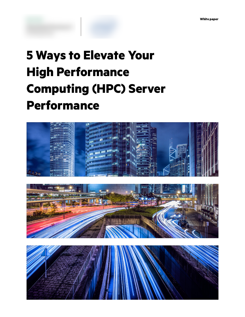 • client:  two Fortune 100 computer hardware & software manufacturers •  objective:  an accessible best-practices white paper for increasing HPC performance  • subjects:  high performance computing, data center infrastructure, server hardware/software best practices