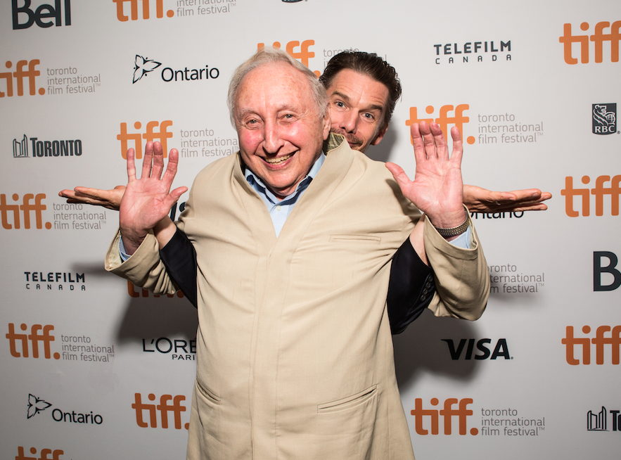 Documentary subject Seymour Bernstein + director Ethan Hawke appear at TIFF14 for Seymour: An Introduction. (Photo: Connie Tsang)