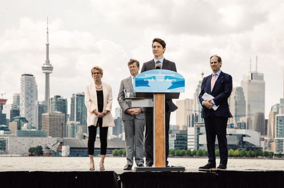 (A joint funding announcement for the Toronto Port Lands Flood Protection and Enabling Infrastructure Project.Photo: Connie Tsang)