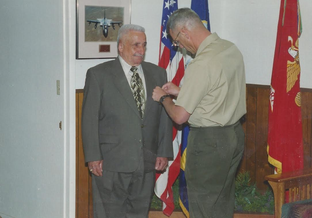 My Grandpa receiving awards from the Marines