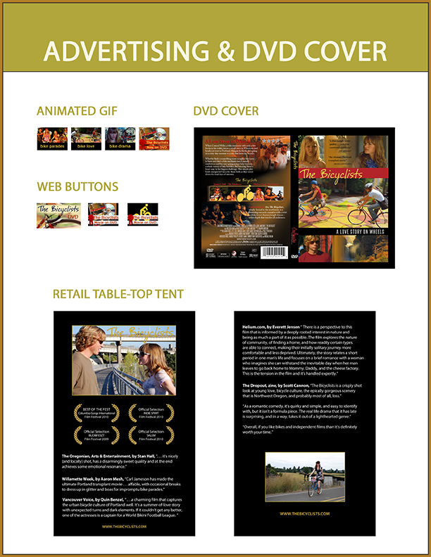 Animated gifs and web buttons were used on websites to advertise the movie, DVD retail display and cover.