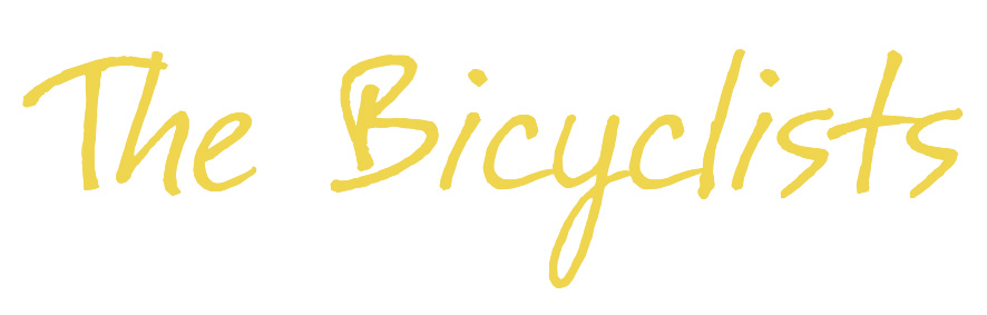 The Bicyclists  movie logo. The film, created after the web series, took a turn toward the dramatic. The new logo reflects that change in direction by balancing gentle beauty and reflection, while still moving forward.