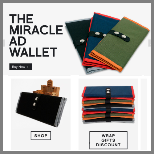 Miracle AD Wallet : eCommerce site sells a special wallet used by Assistant Directors on movie sets.  See website