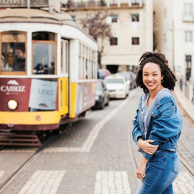 #Exploress  Originally Posted By @tasha_samuel • Had blast running in front of trams with @cityportraits_lisbon 📸