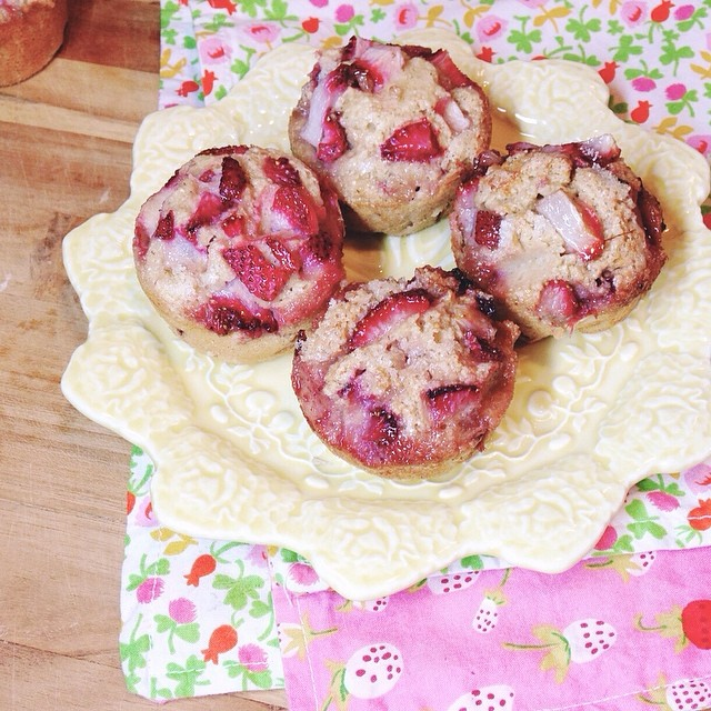 Summerfield Delight | Dashing Dish's Strawberry Muffins