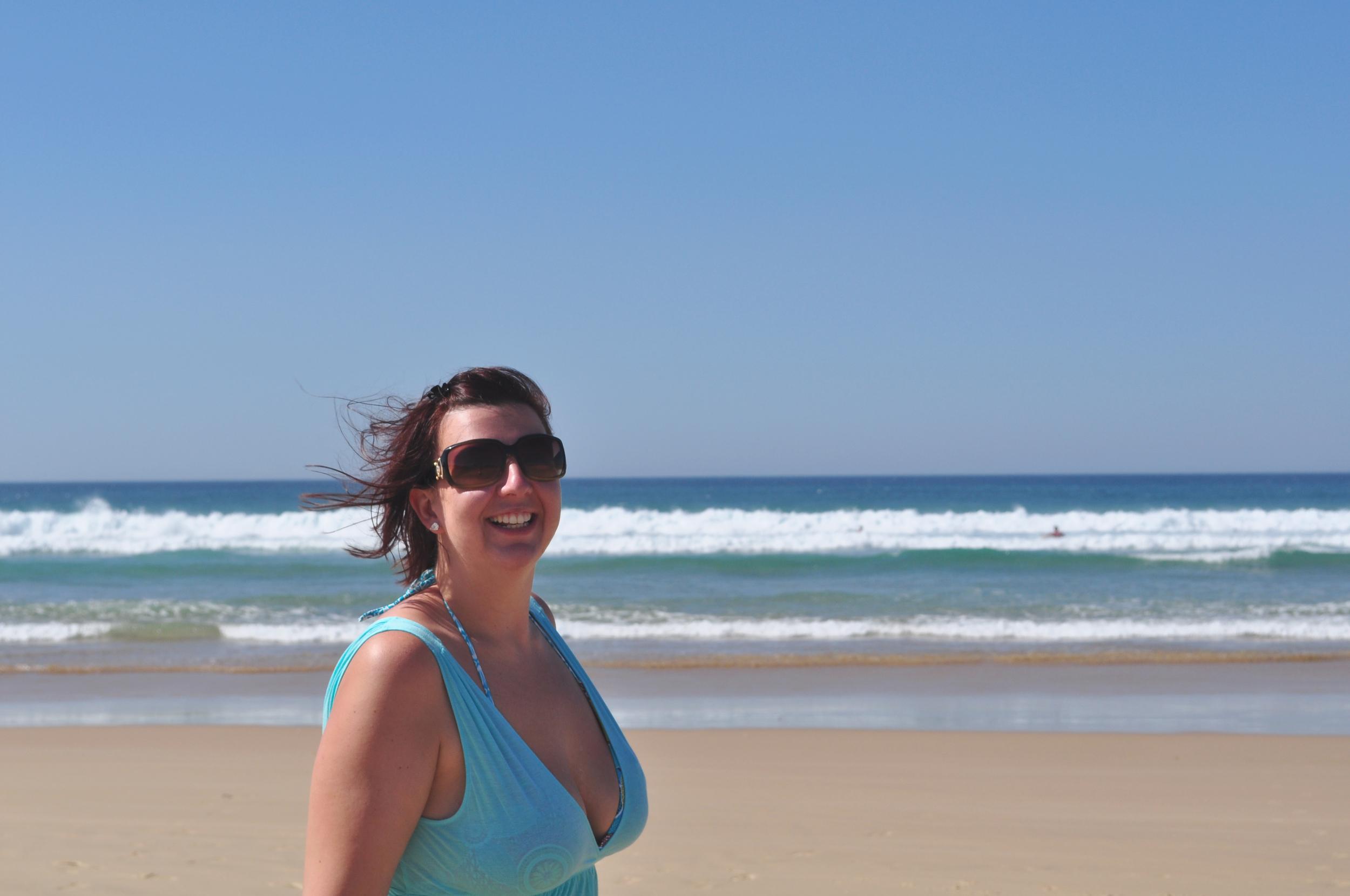 Clare at Stockton Beach in Port MacQuarie