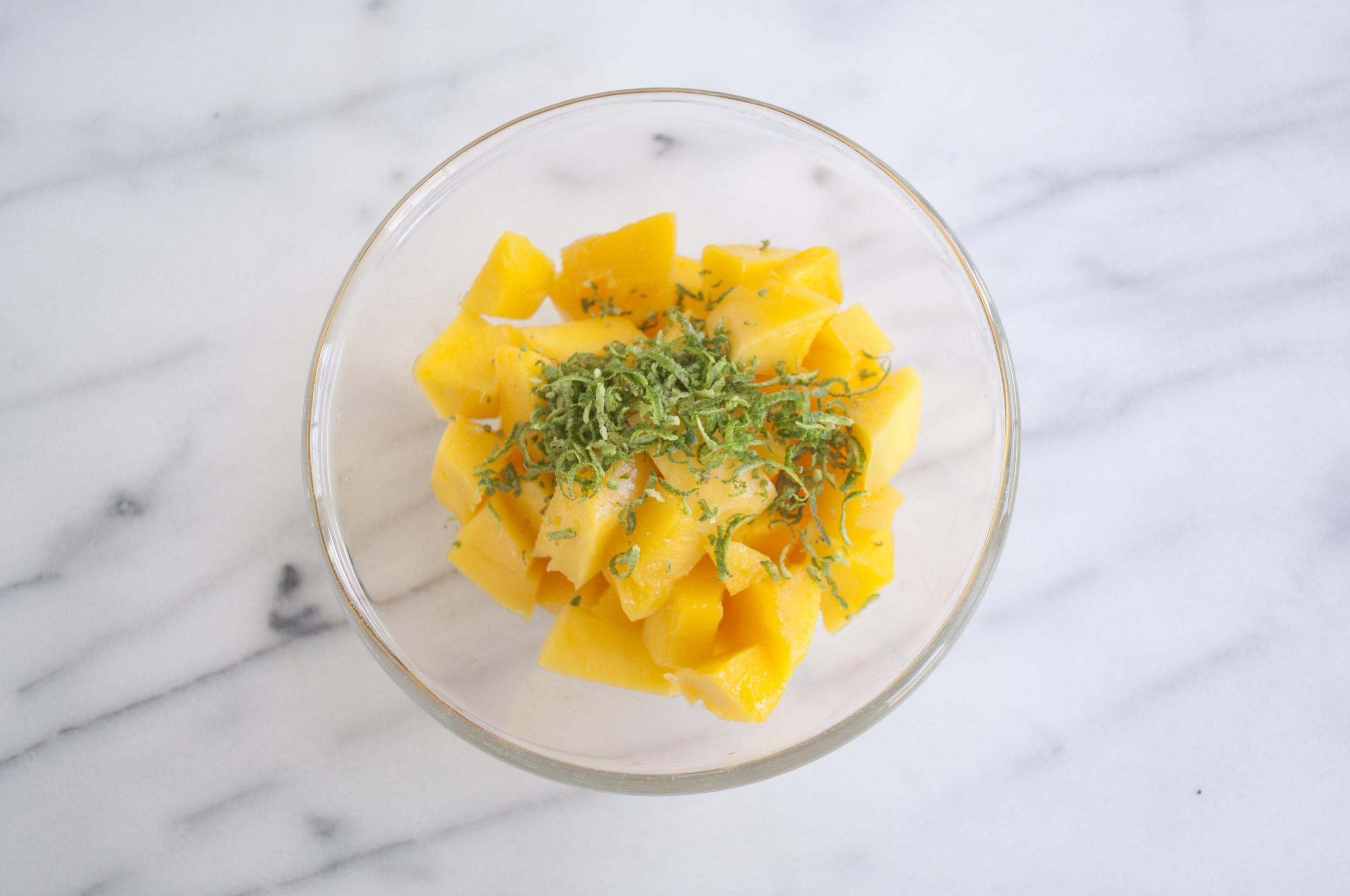 Mango Lime Fool Dessert