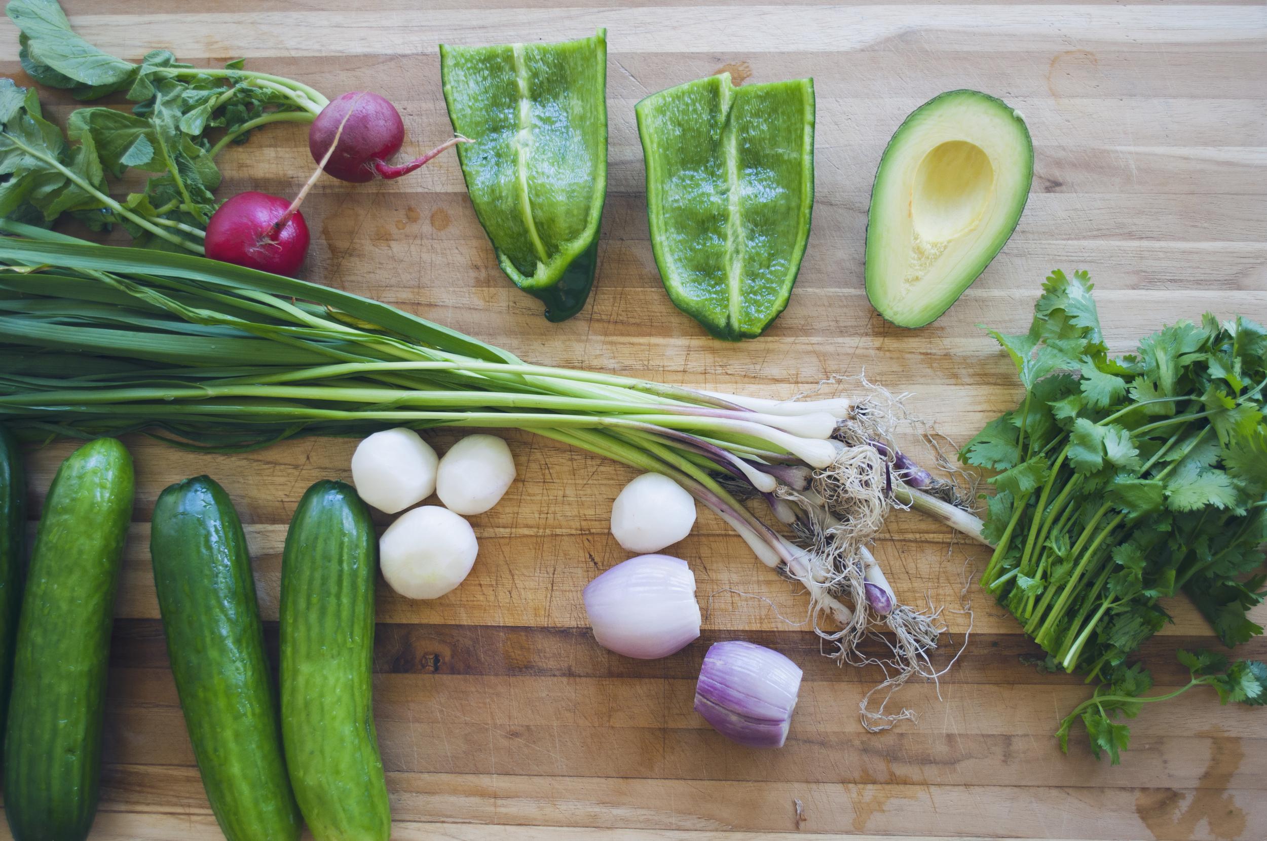 Garden Green Gazpacho Ingredients