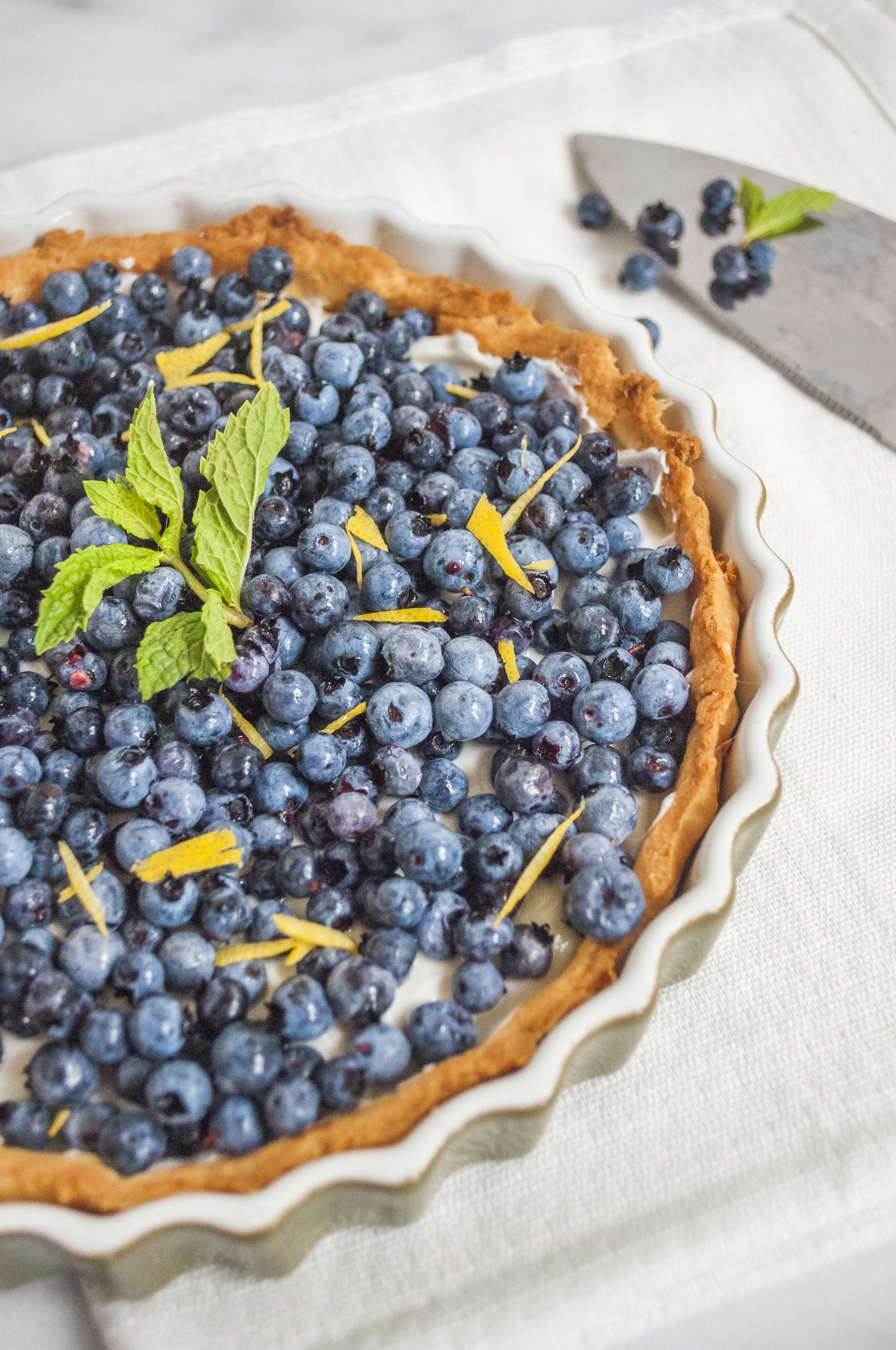 Wild Blueberry Tart