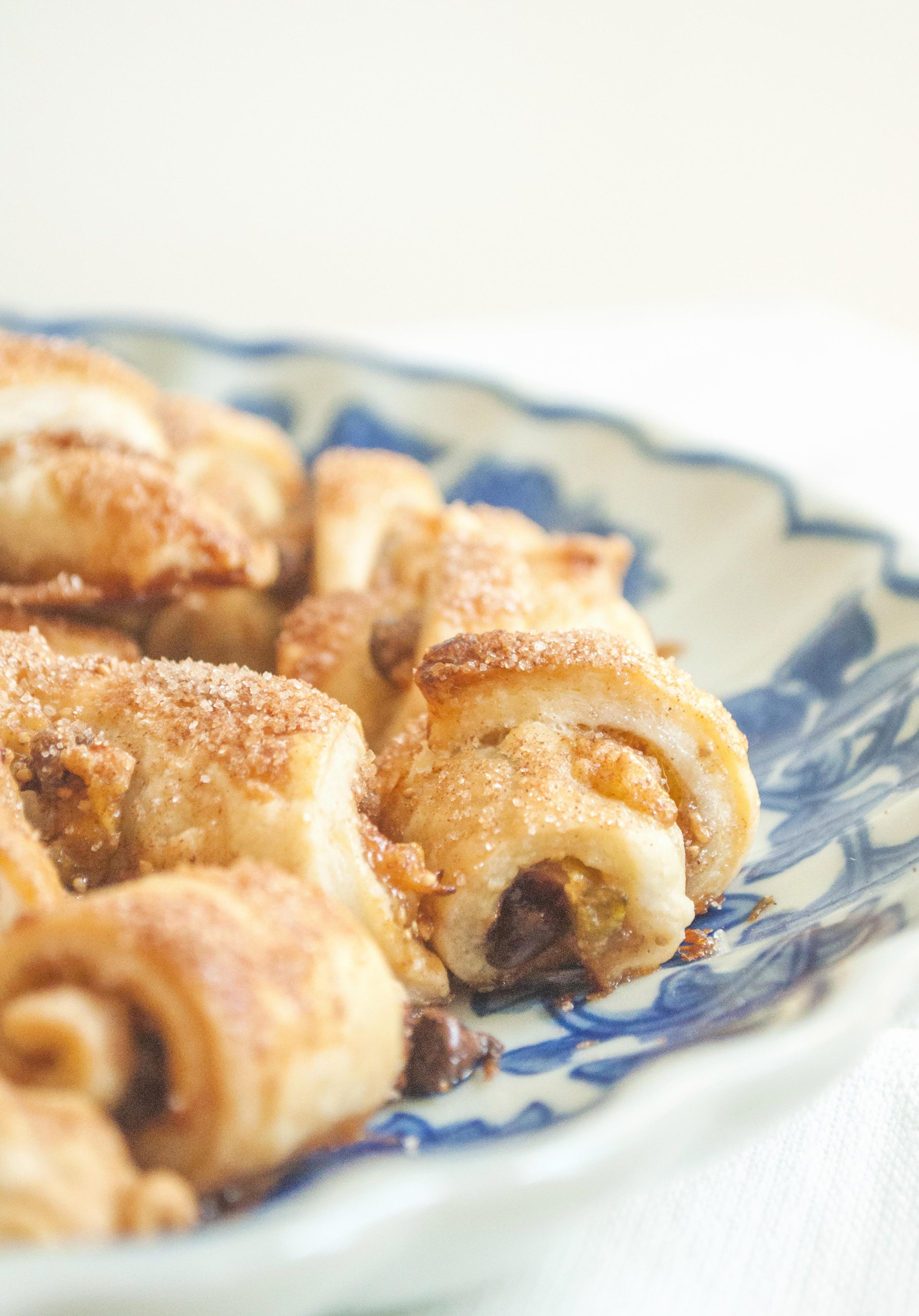 Roasted Fig Rugelach Cookies