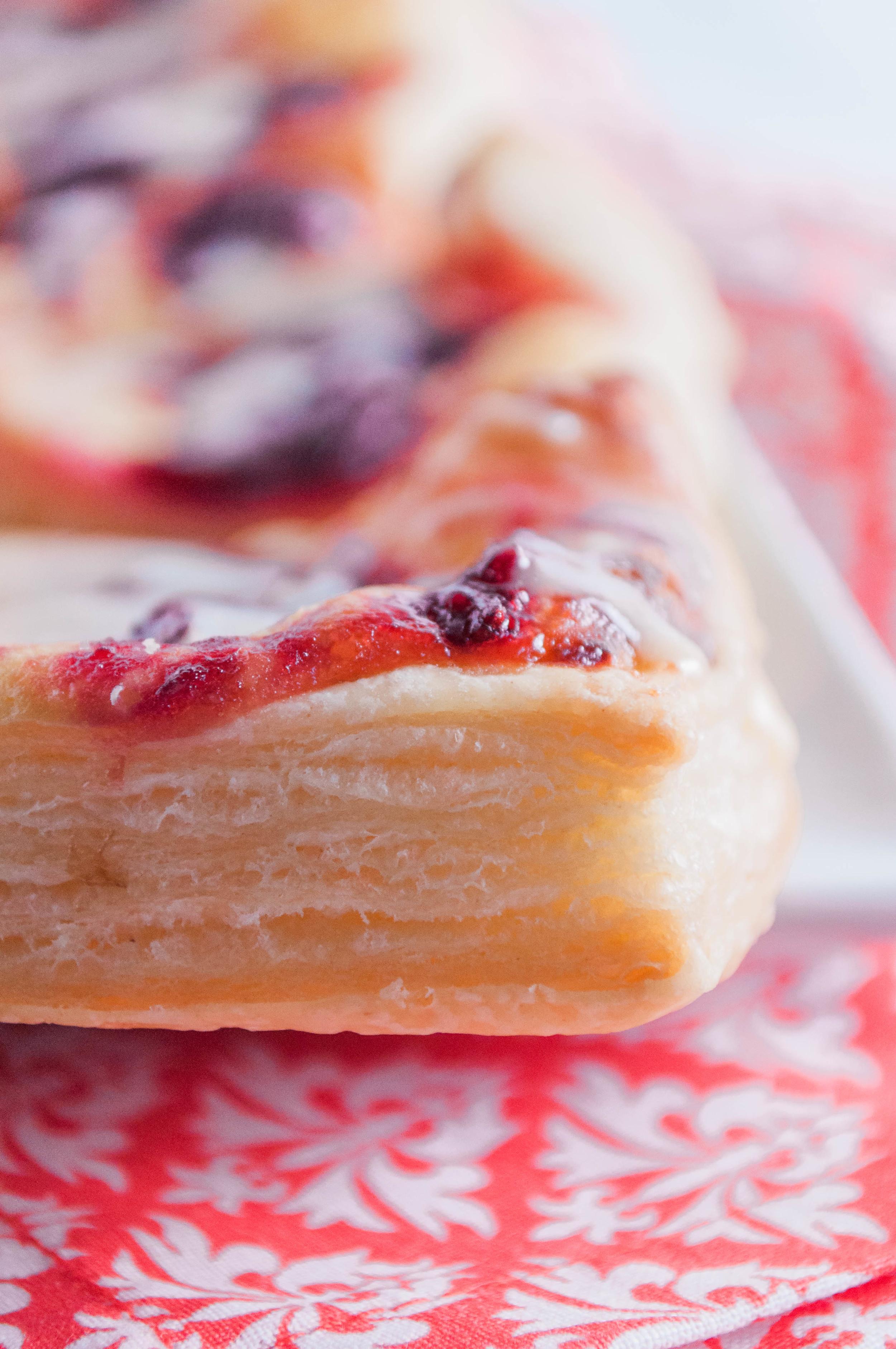 Cranberry Cream Cheese Danishes