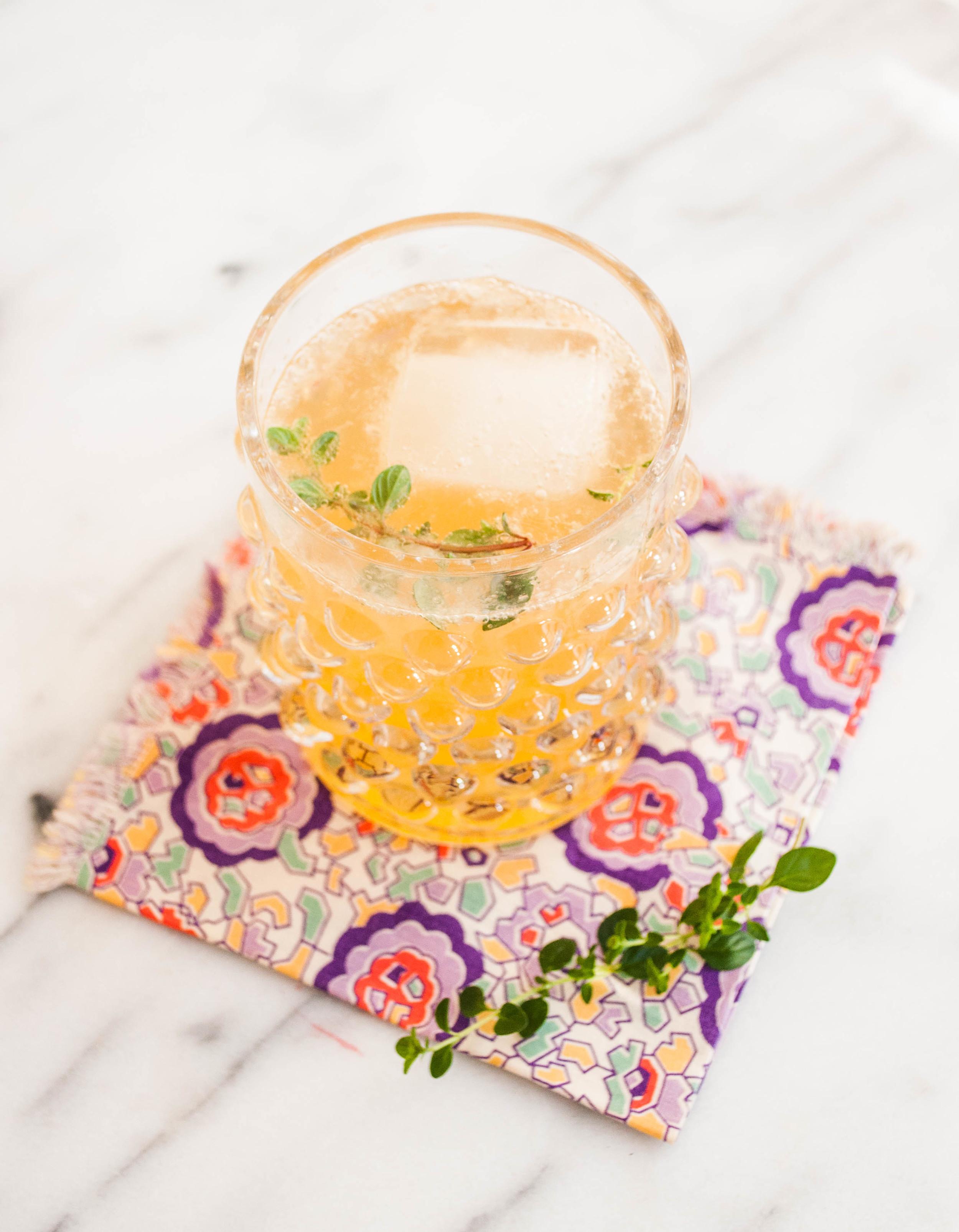 Summerfield Delight | Thyme Bourbon Lemonade | Refreshing Summer Bourbon Drink for non-bourbon drinkers