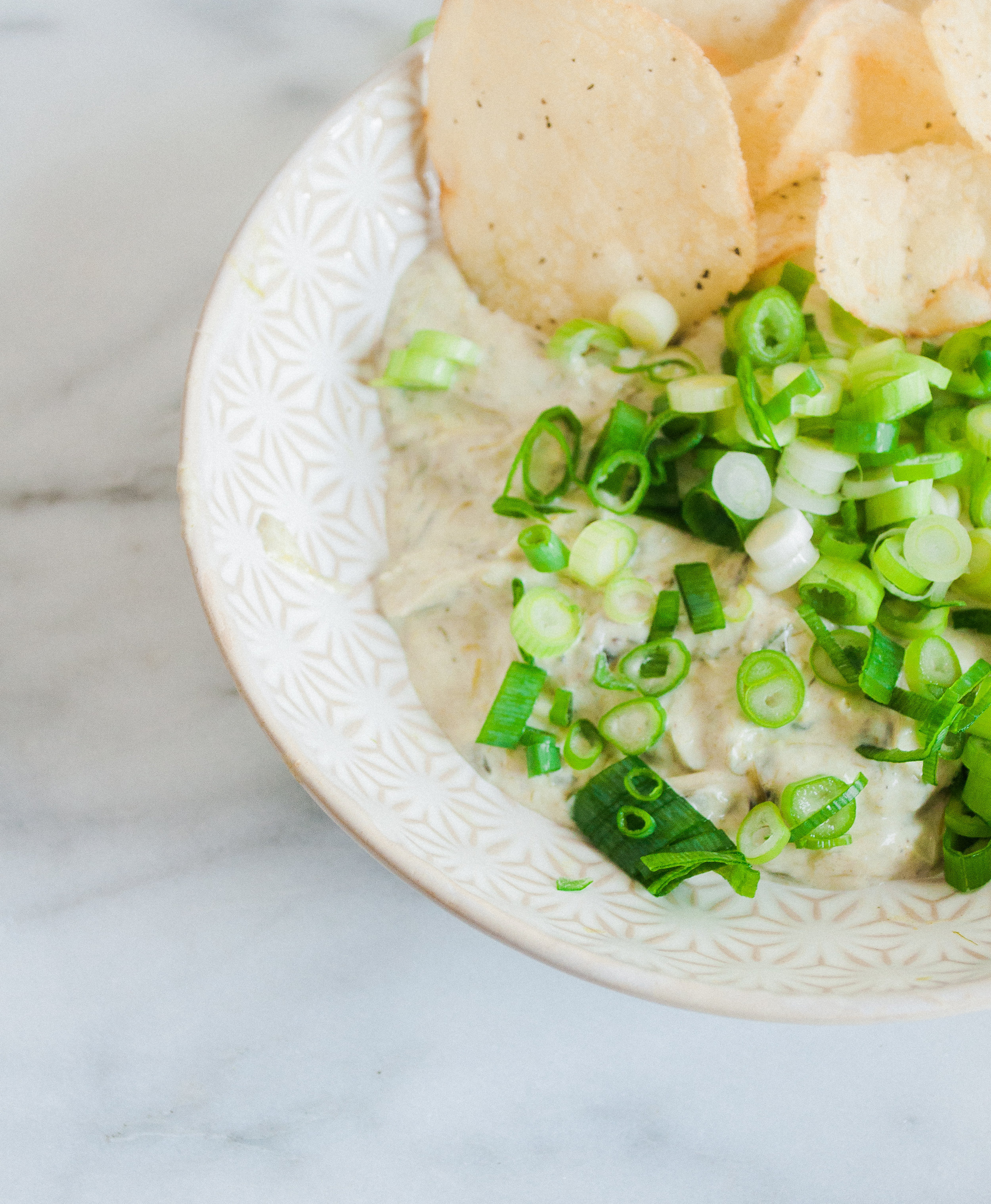 Summerfield Delight by Meg Summerfield   Review of Small Victories Cookbook by Julia Turshen   Roasted Scallion and Chive Dip