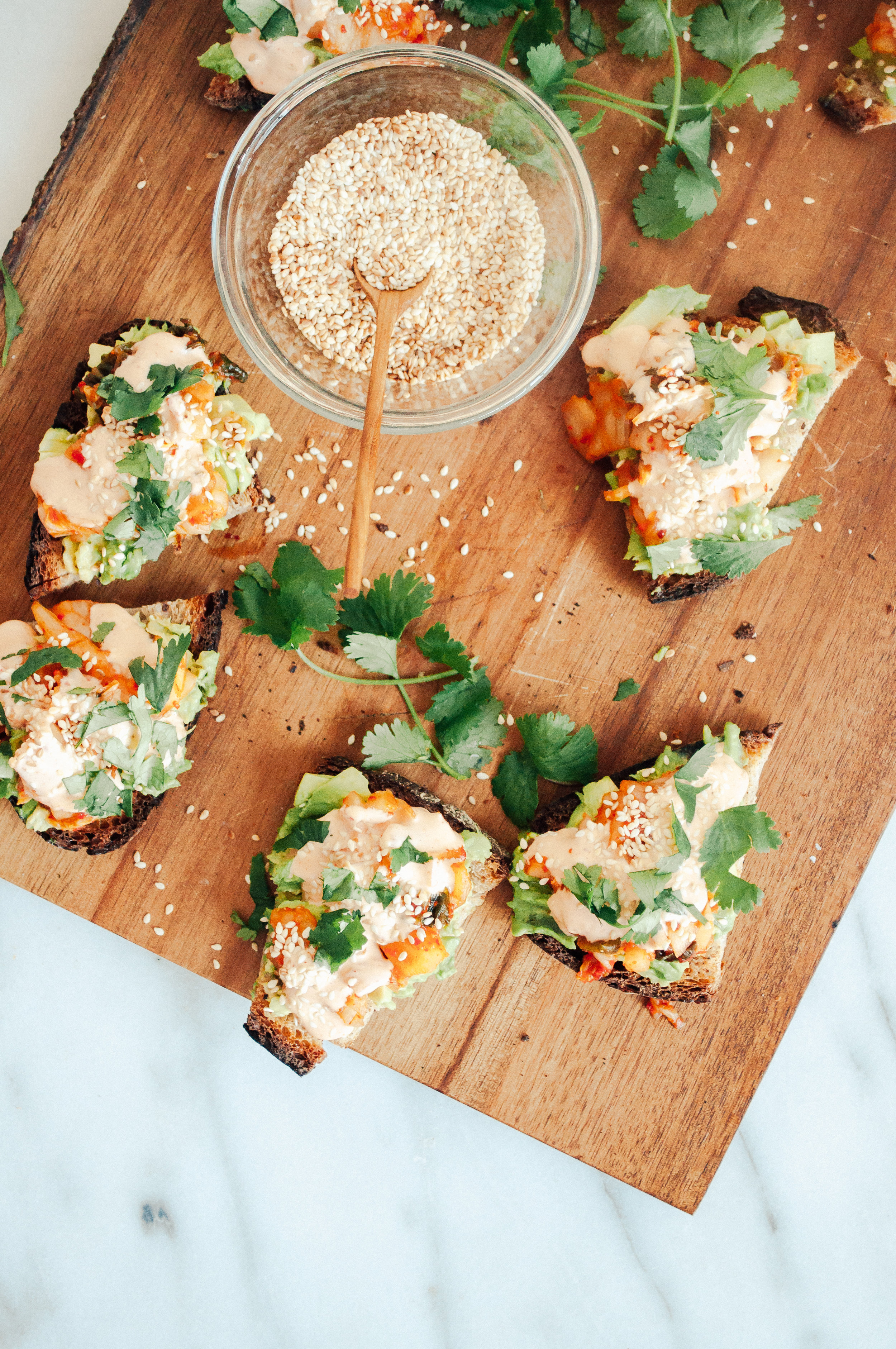 Summerfield Delight by Meg Summerfield   Review of Small Victories Cookbook by Julia Turshen   Avocado Kimchi Toasts
