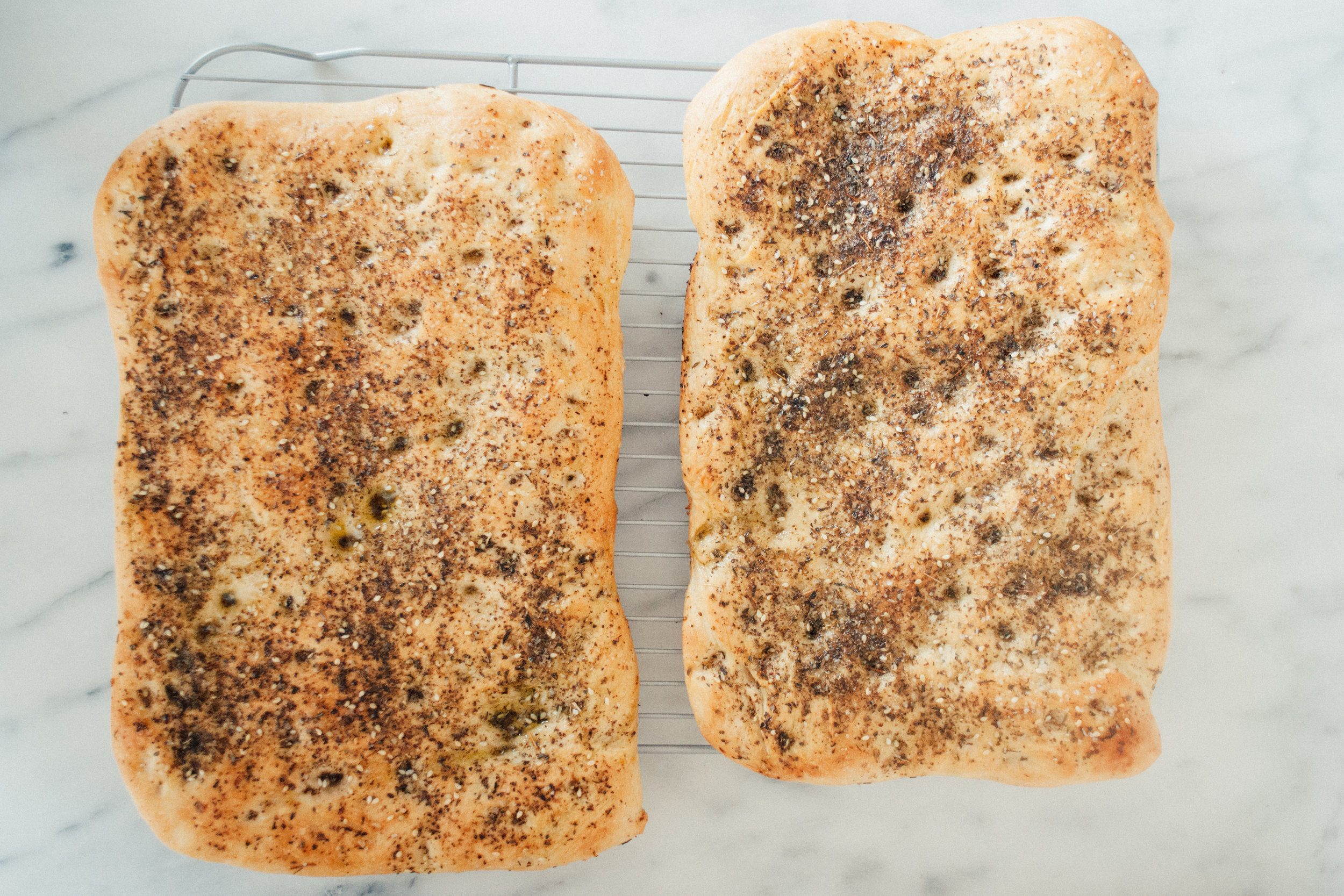 Summerfield Delight | Tatte Bakery Focaccia with Za'atar