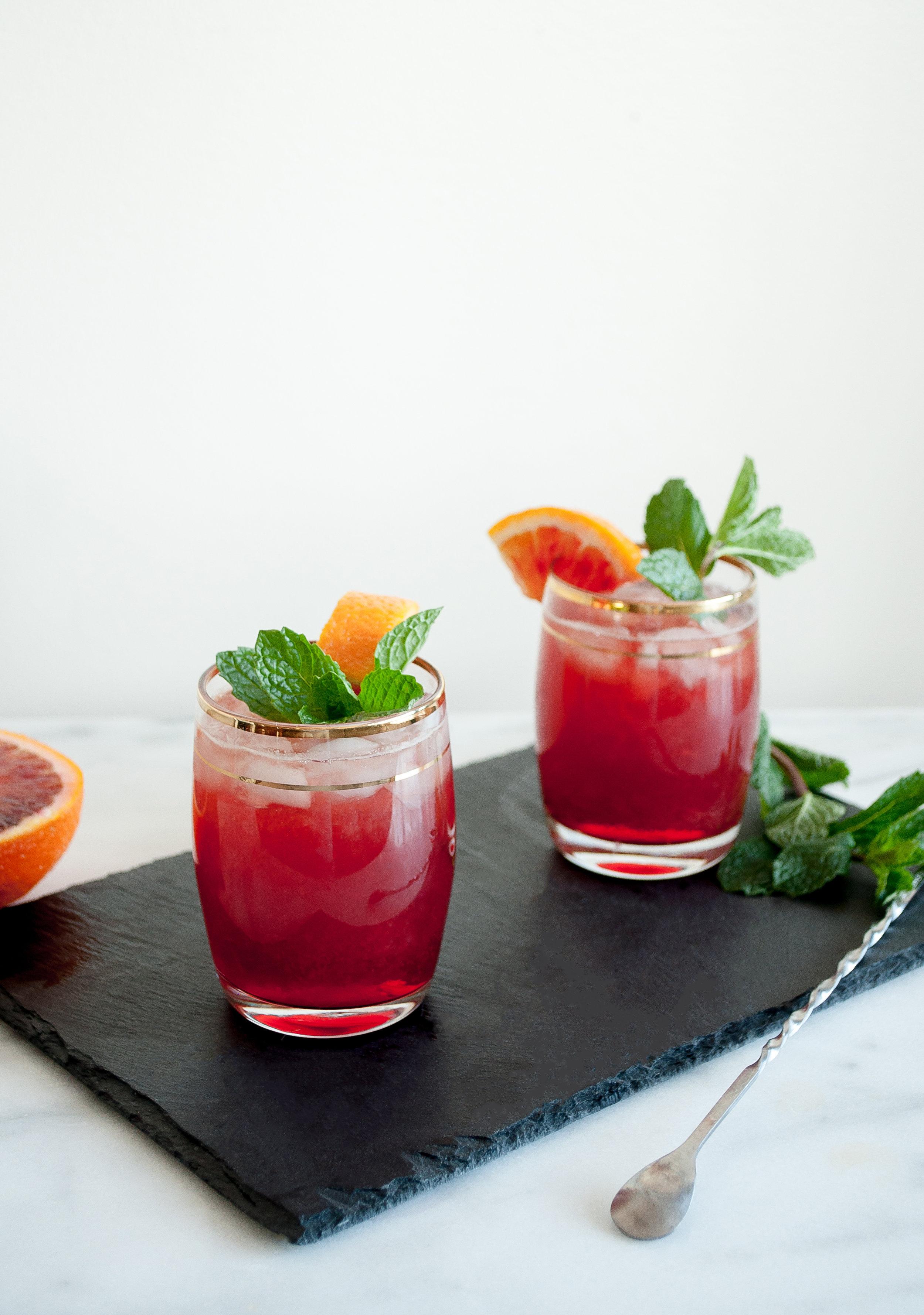Blood Orange Boulevardier Campari Cocktail