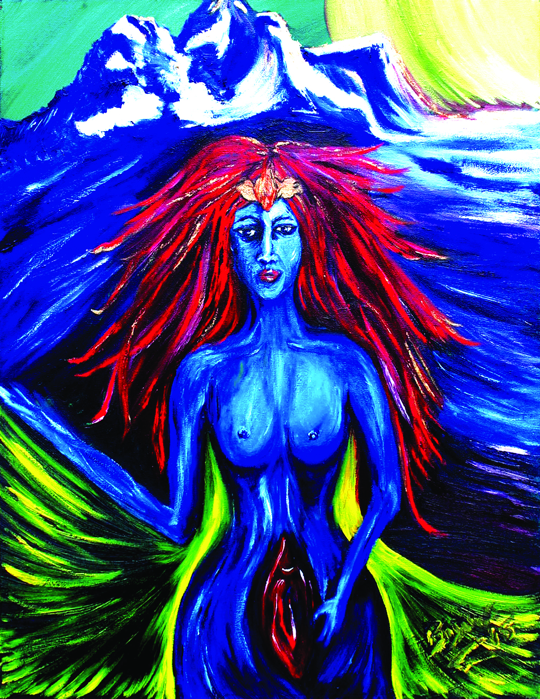 "Grieving Goddess - $625 24"" x 20"" oil on canvas"