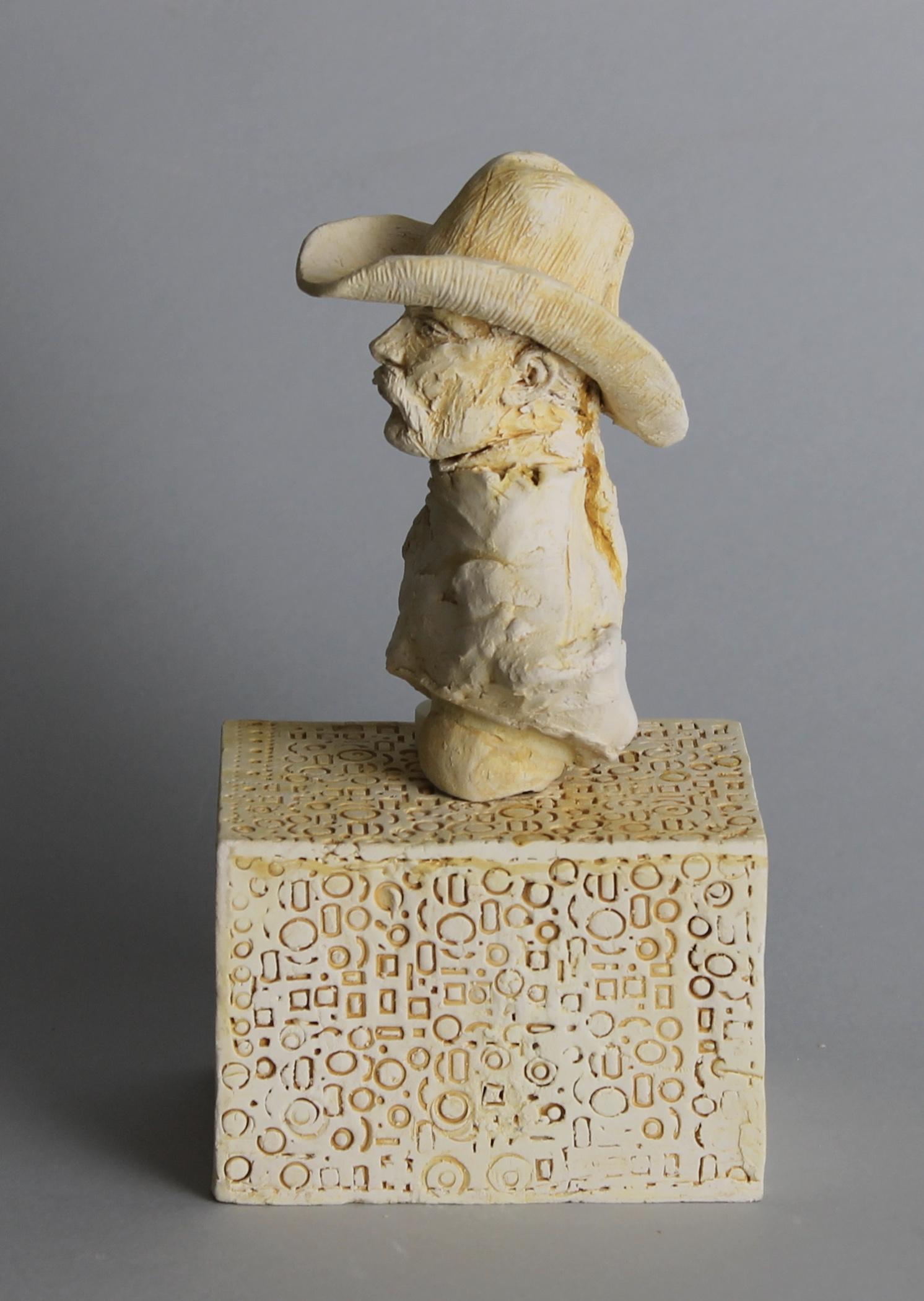 Clay Cowboy I, ceramic base