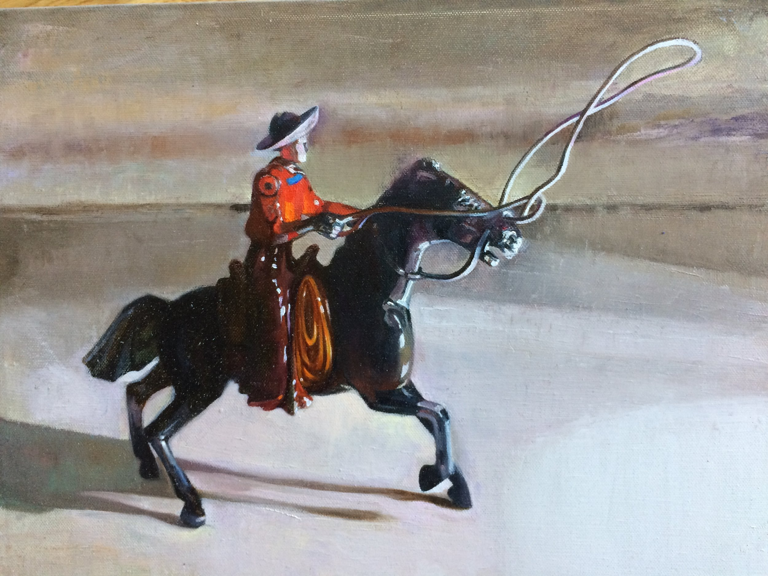 """The Wrangler, 12""""x16"""", oil on canvas"""