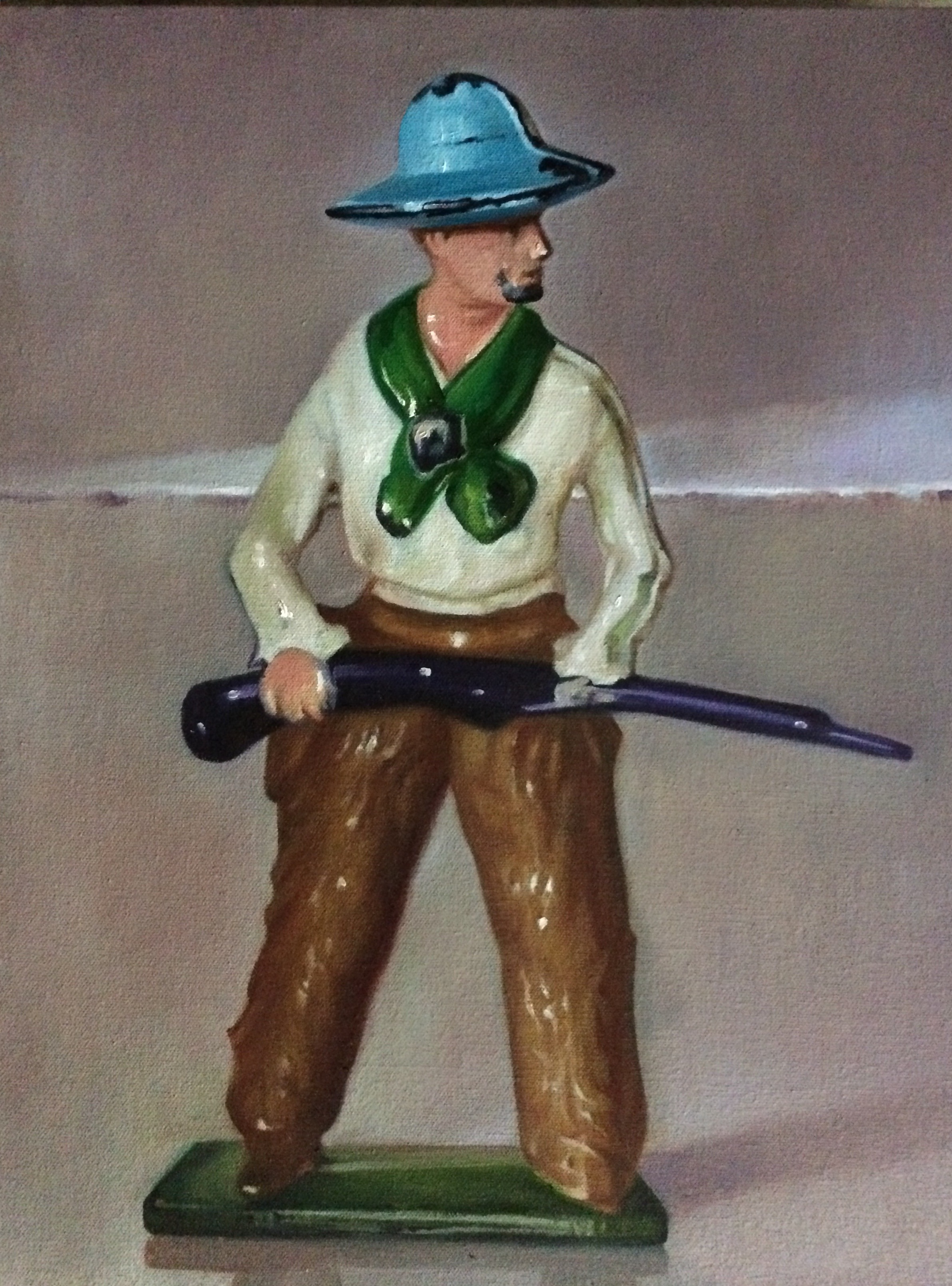 """The Handsome Constituent Cowboy, 20""""x16"""", oil on canvas"""