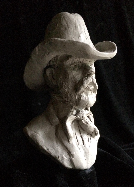 "Clay Cowboy I, 6"" high, including base"