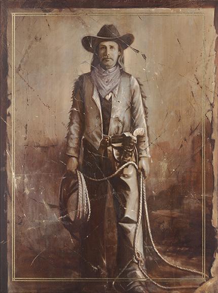 """Cowboy II, 40""""x30"""", oil on canvas"""