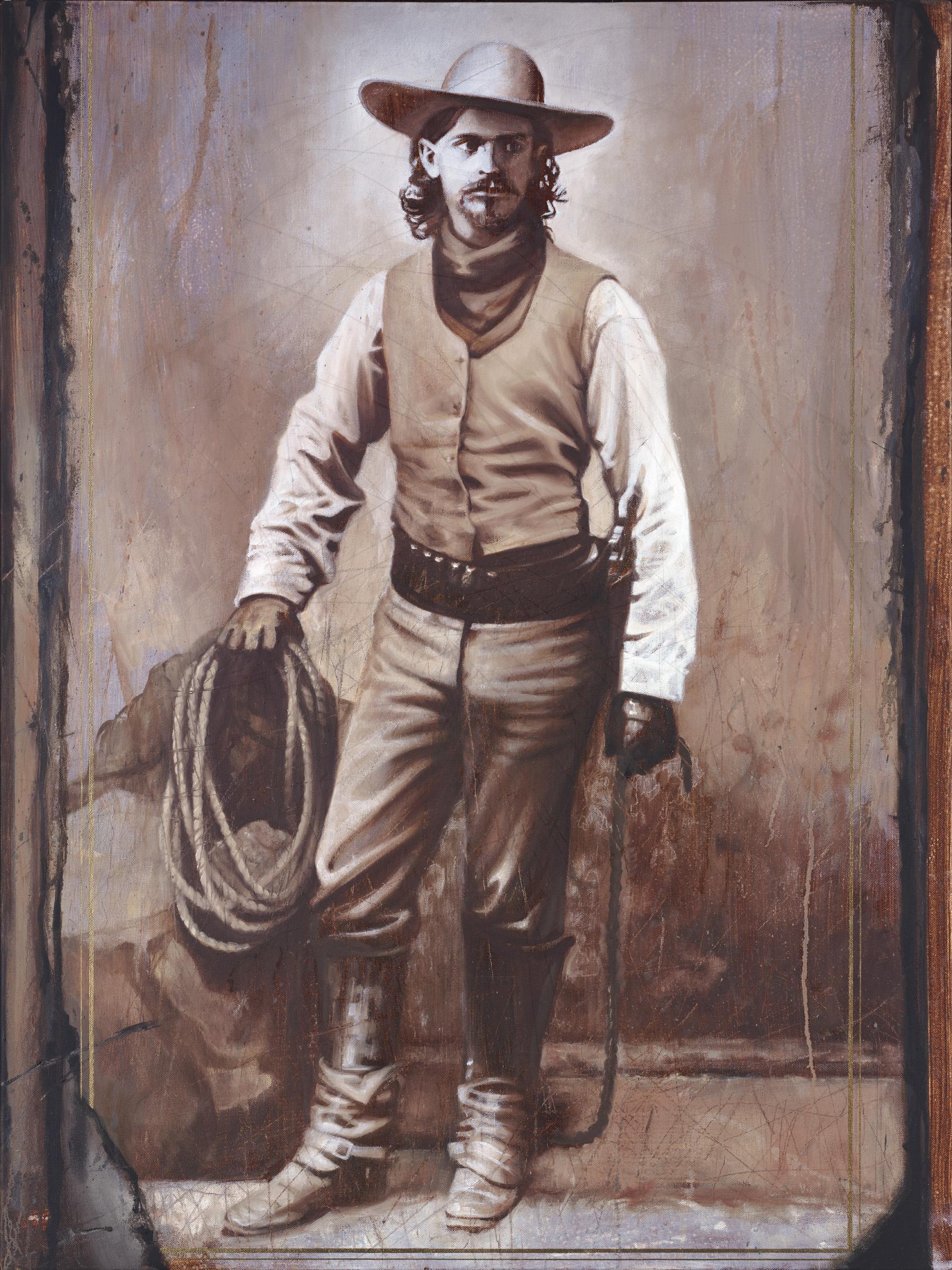 "Cowboy I, 40""x30"", oil on canvas"