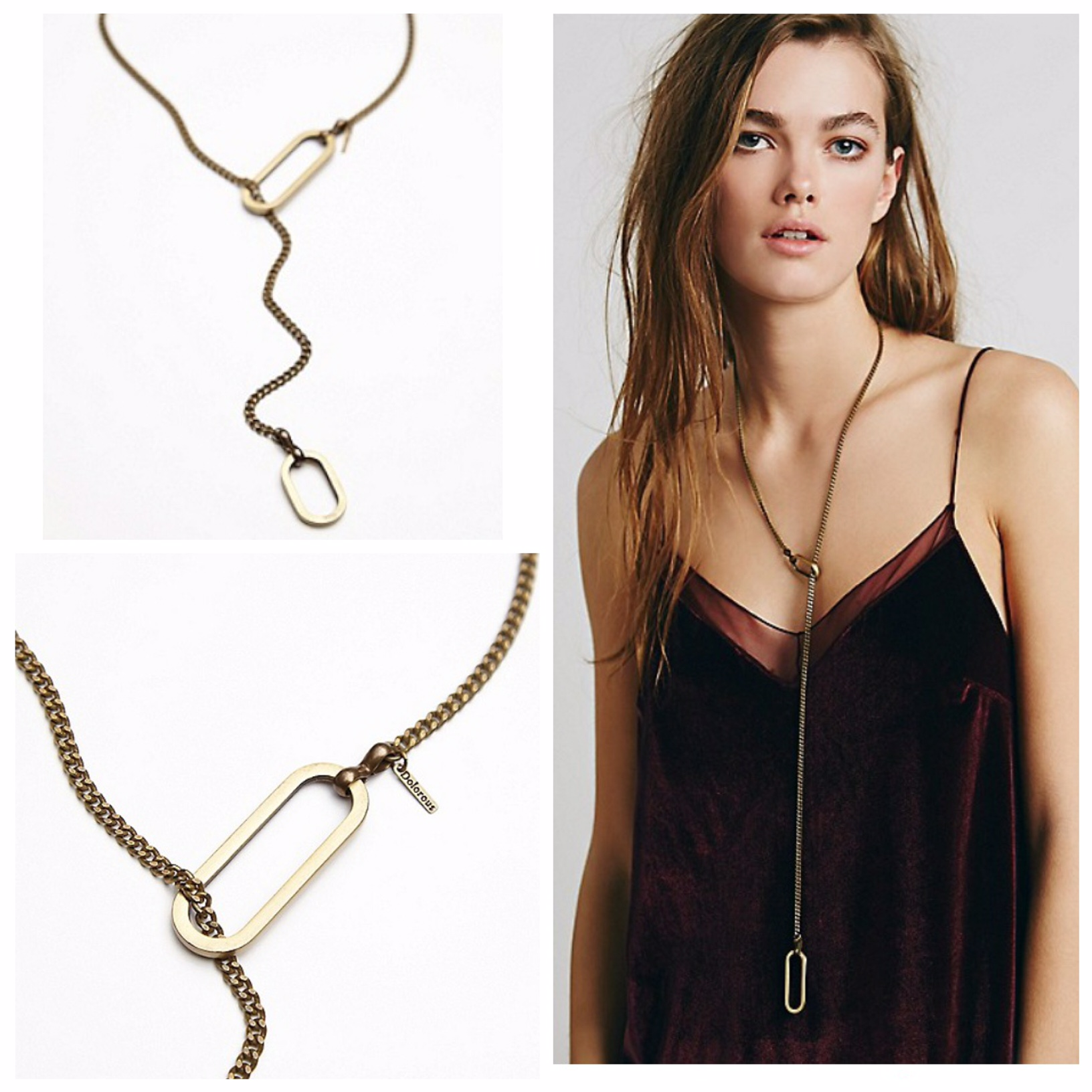 Dolorous Jewelry Ida Lariat now available at www.FreePeople.com and Free People locations across the USA