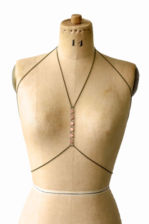 Chain Halter Top Chain Bralette Body Chain Body Jewelry