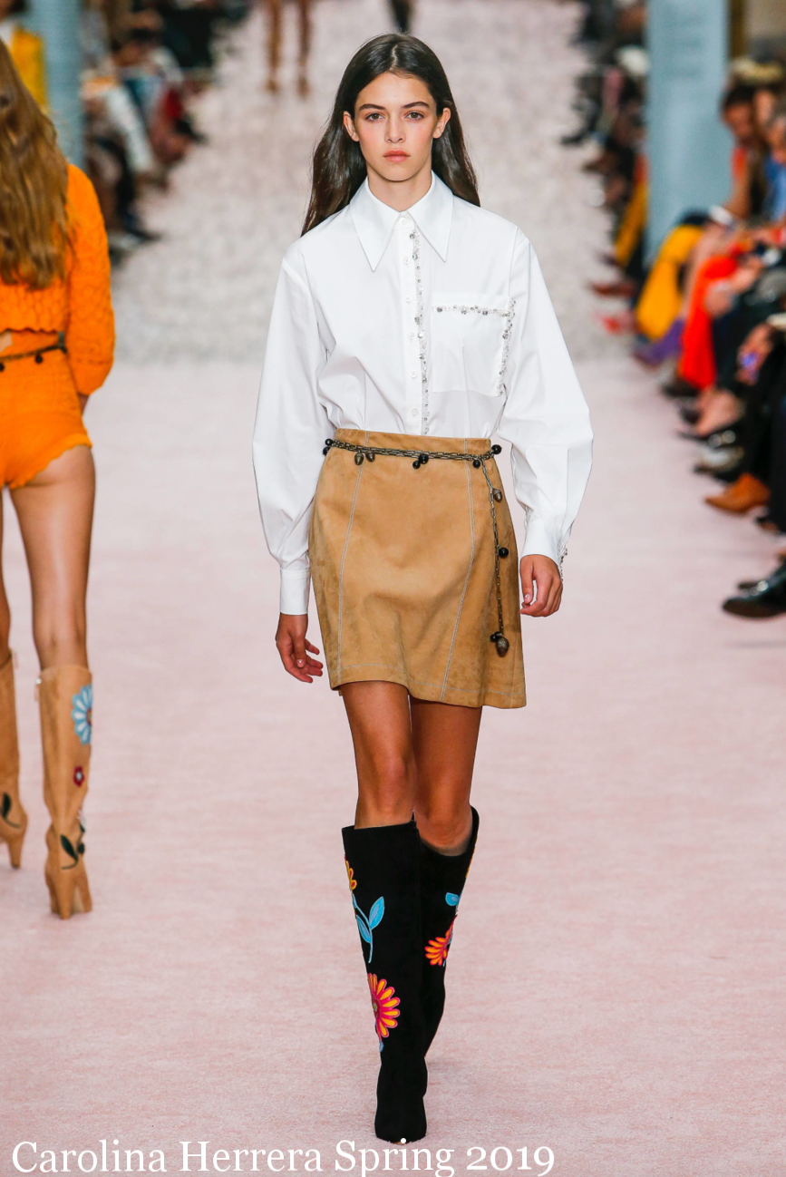 Carolina Herrera Spring 2019 NYFW Runway Chain Belt