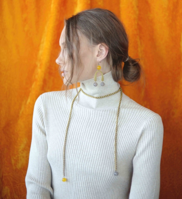 The  Idra Statement Earrings  are a great way to add a bit of brightness to your winter wardrobe