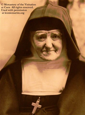 The Servant of God, Leonie Martin, Sister Francoise-Therese of the Visitation at Caen, in 1940, aged 78.
