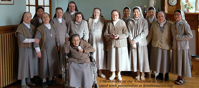 The community of the Visitation at Caen, where Leonie Martin lived as Sister Francoise-Therese from 1899 until her death in 1941.