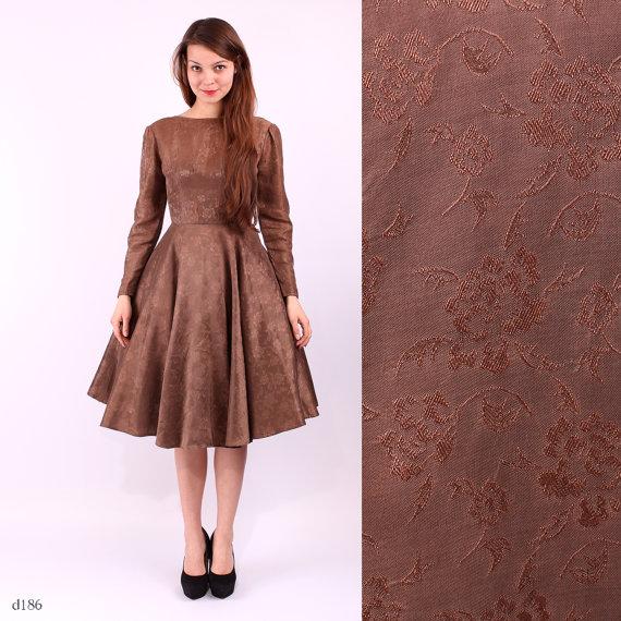 1950s Dress / 50s Party Dress / sz Small, Petite